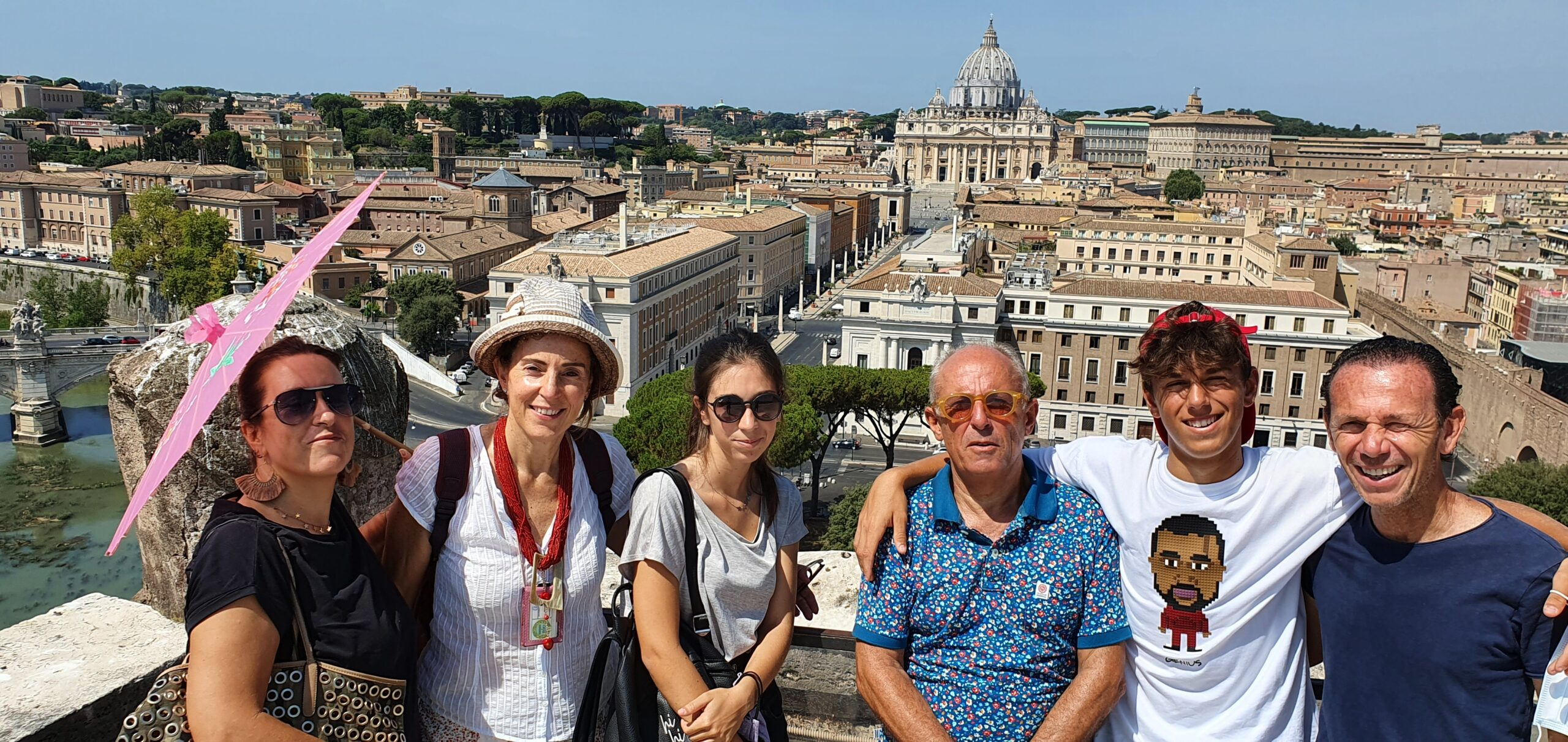 Castel Sant'Angelo, with the Prati family