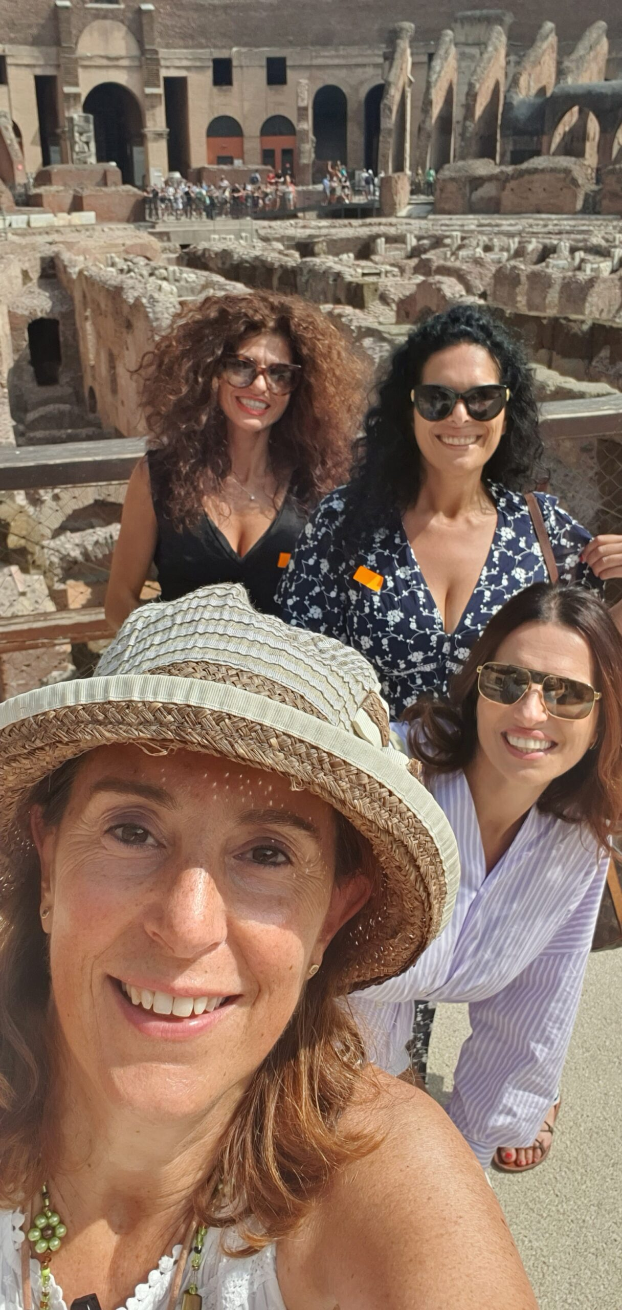 Colosseum, inside. Selfie with Alessandra Maria e Roberta from Puglia